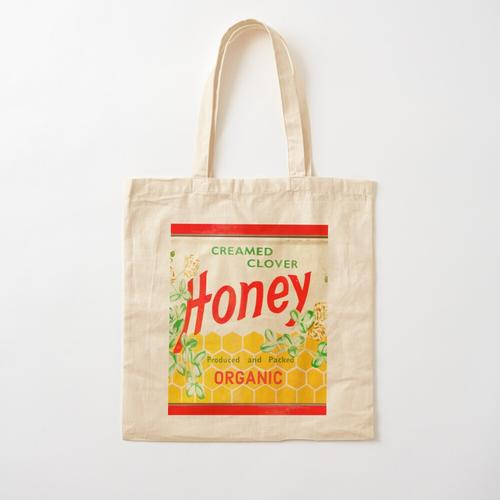 Bio-Rahmspinat-Honig Baumwolltasche