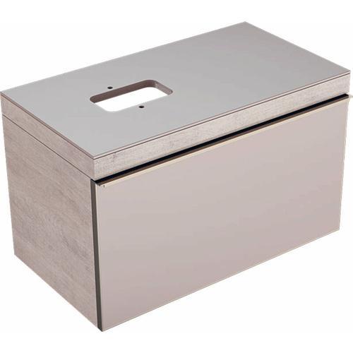 Keramag - Geberit Citterio Waschtischunterschrank 500560JI1, mit Glasplatte und Siphonausschnitt,