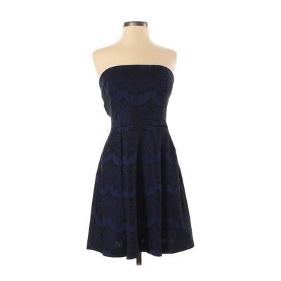 Fab'rik Cocktail Dress - Formal: Blue Dresses - Used - Size Small