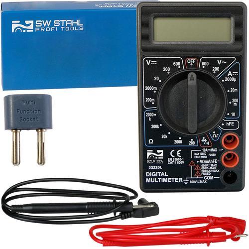 Sw-stahl Digital-multimeter Messgerät Acdc 600v Amperemeter 10a Voltmeter Ohm Sw-stahl: 32220l