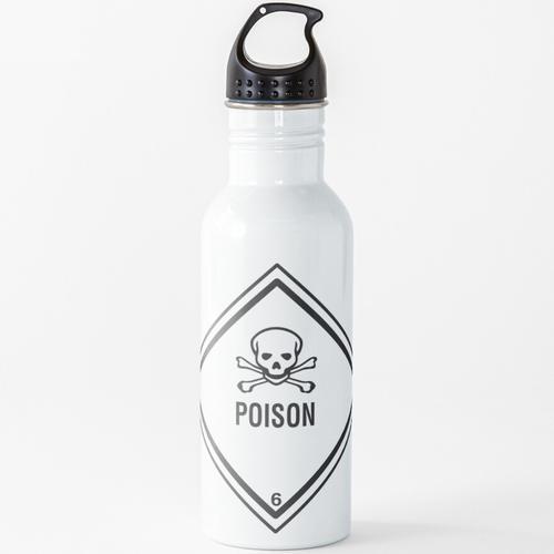 Gift-Symbol Wasserflasche