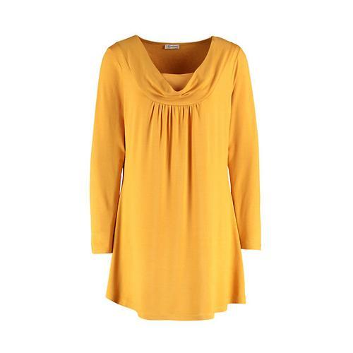 Deerberg Damen Jersey-Tunika Rachil herbstgold Bluse