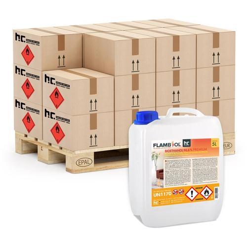8 x 5 Liter Bioethanol 96,6% Premium für Ethanol-Brenner oder Kamine