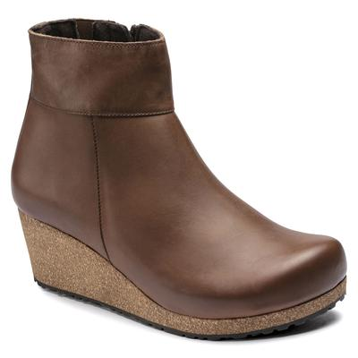 BIRKENSTOCK Ebba Natural Leather Cognac With A Heel