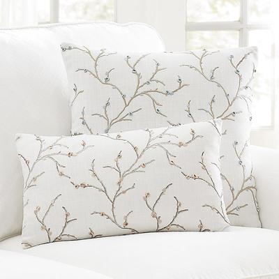 "Cherry Blossom Embroidered Pillow Blush 12"" x 20"" - Ballard Designs"