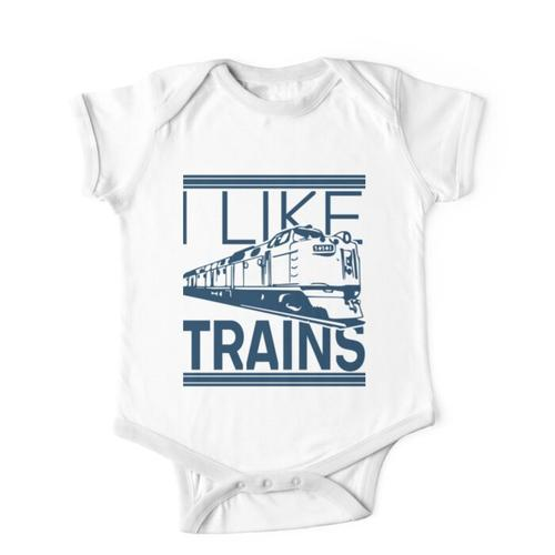 Eisenbahn Zug Lokomotive Eisenbahnliebhaber Kinderbekleidung