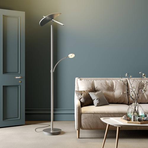 Lucande LED-Deckenfluter Anniki, nickel