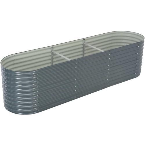 Pflanzkubel Grau 320 X 80 X 81 Cm Verzinkter Stahl
