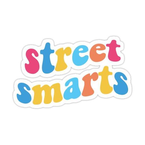 Street Smarts! Sticker