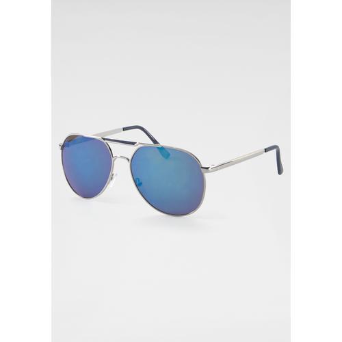 J.Jayz Sonnenbrille, dunkel getönte Gläser silberfarben Damen Pilotenbrille Sonnenbrillen Accessoires Sonnenbrille
