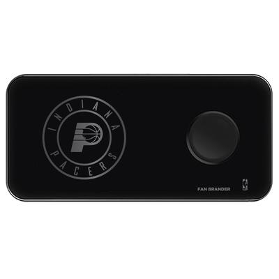 """""""Black Indiana Pacers 3-in-1 Glass Wireless Charge Pad"""""""