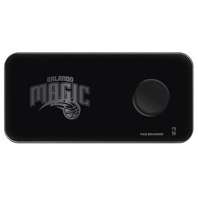 """Black Orlando Magic 3-in-1 Glass Wireless Charge Pad"""