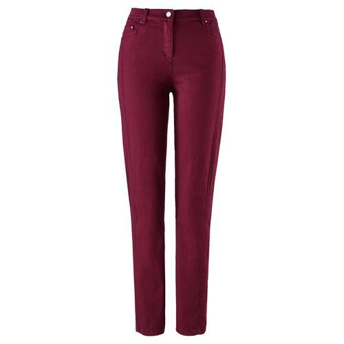 Avena Damen Macht-mich-schlank-Jeans Rot