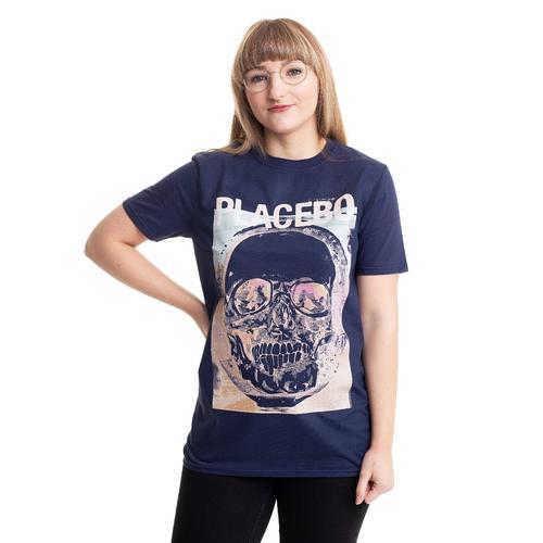 Placebo - Psychedelic Skull Navy - - T-Shirts