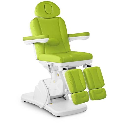 Physa - Fußpflegestuhl elektrisch Kosmetikstuhl grün Kosmetikliege höhenverstellbar