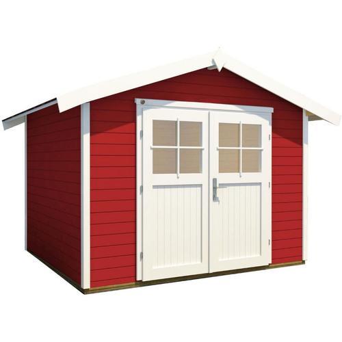 weka Gerätehaus 122 schwedenrot Geräteschuppen, 240x235 cm
