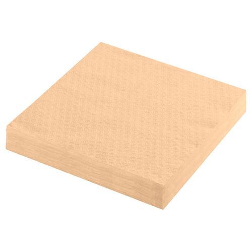 5000x Servietten Prägeservietten 1-lagig 33 x 33 cm apricot