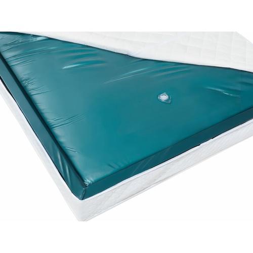 Wasserbettmatratze Blau Vinyl 140 x 200 cm Mono System Unberuhigt Soft Side ein Wasserkern