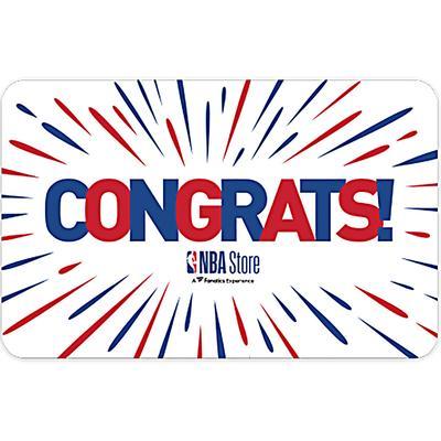 """NBA Store Congratulations Gift Card ($10 - $500)"""