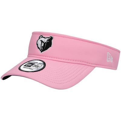 """Men's New Era Pink Memphis Grizzlies Logo Adjustable Visor"""