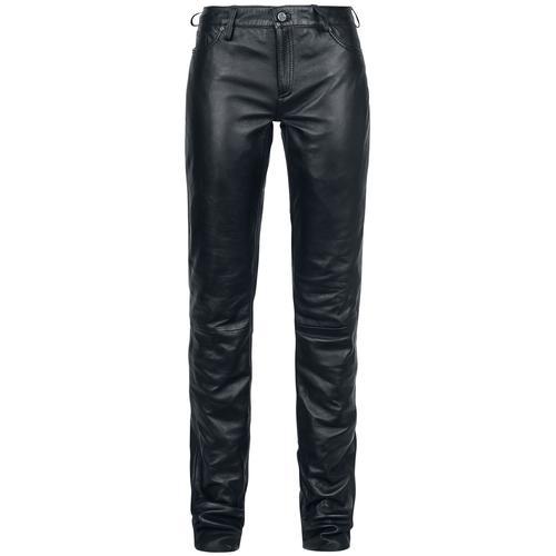Gipsy Ggwhitley LNV Damen-Lederhose - schwarz