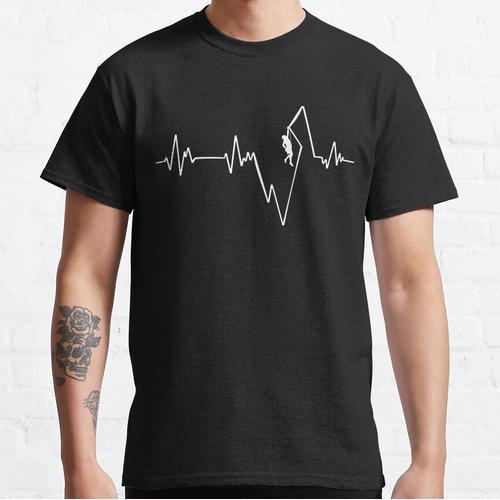 Climber Climbing Climber ECG T-shirt Heartbeat Classic T-Shirt