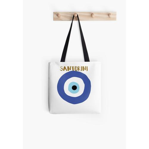 Böser Blick Santorini Tasche