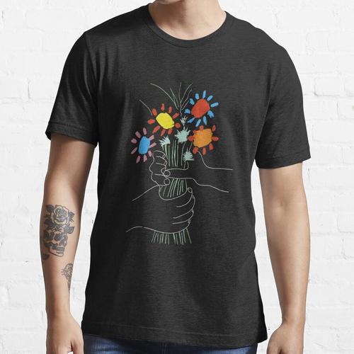 Blumenstrauß - Picasso Line Art Essential T-Shirt