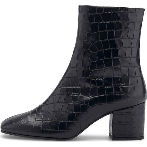 Högl, Kroko-Stiefelette in schwarz, Stiefeletten für Damen Gr. 37 1/2