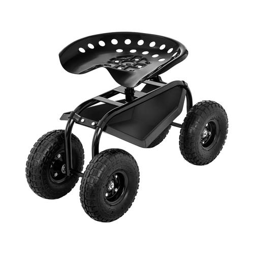 hillvert Fahrbarer Gartensitz - 150 kg HT-RUNDLE-4