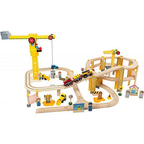 Eisenbahnset Baustelle bunt