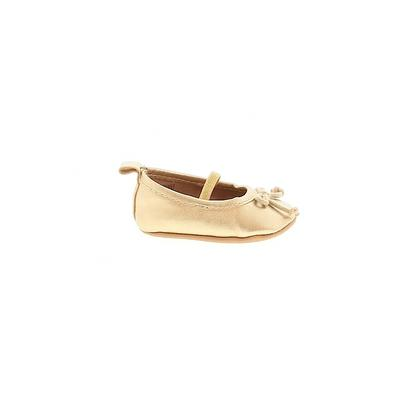 Old Navy Flats: Gold Solid Shoes...