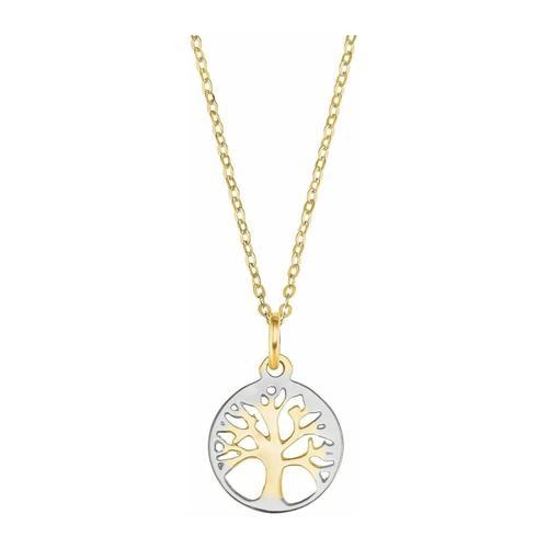 Kette mit Anhänger für Damen, Gold 375, Lebensbaum amor Gold