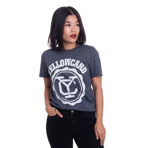 Yellowcard - Logo Dark Grey - - T-Shirts
