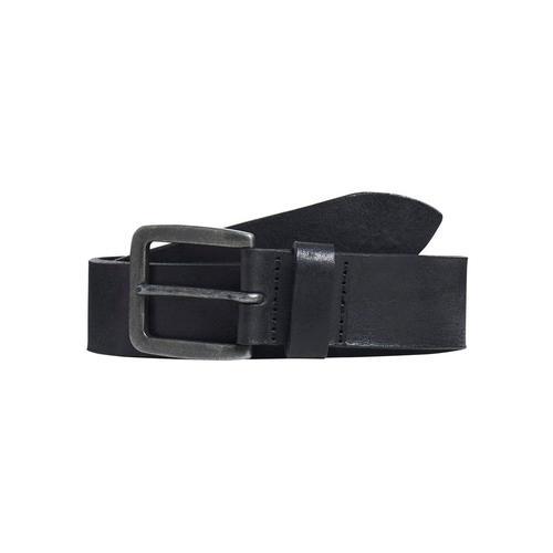 Jack & Jones Ledergürtel, Vintage-Look, genarbte Oberfläche schwarz Damen Ledergürtel Gürtel Accessoires