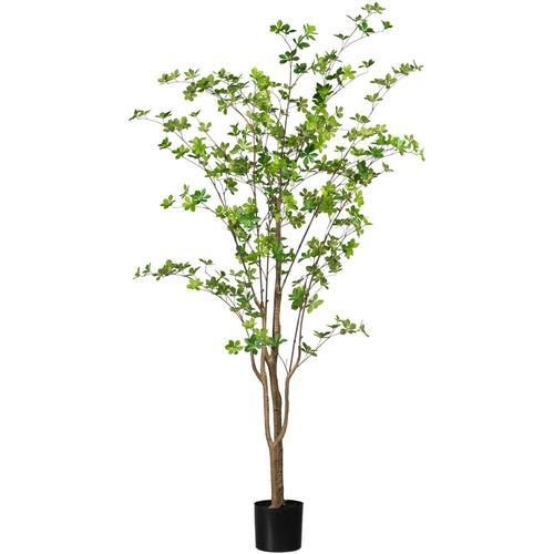 Creativ green Kunstbaum Louisiana-Baum grün Künstliche Zimmerpflanzen Kunstpflanzen Wohnaccessoires