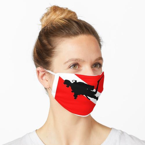 Diver Down Flag Scuba Diver Maske
