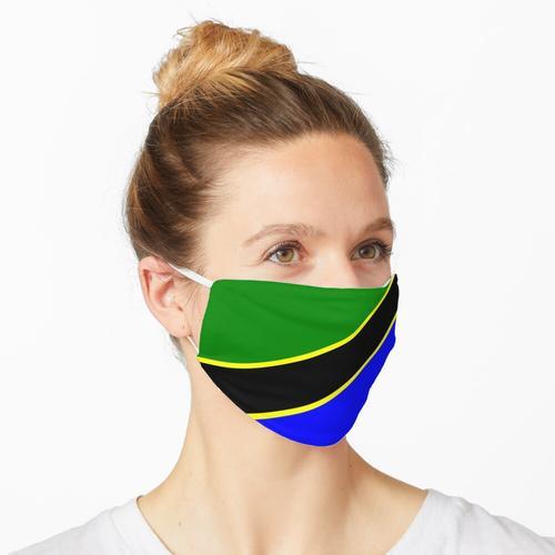 Tansania - Flagge von Tansania Maske