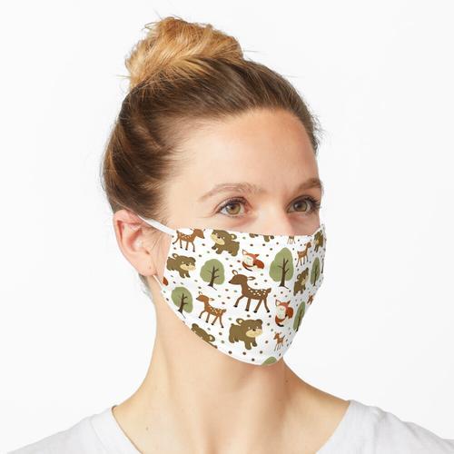 Waldhirsch, Bär, Fuchstiere Maske
