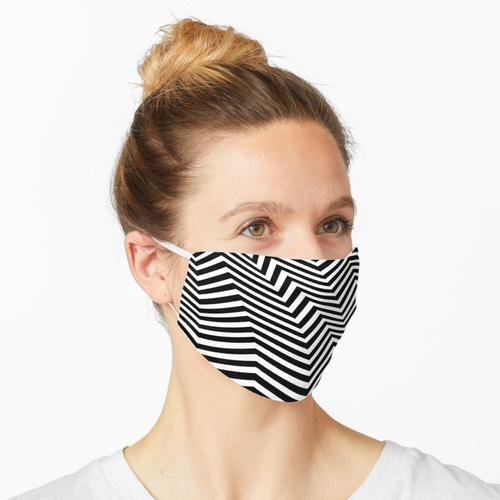Op-Art gebogener Zick-Zack Maske