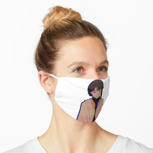Lain Sad Static Maske
