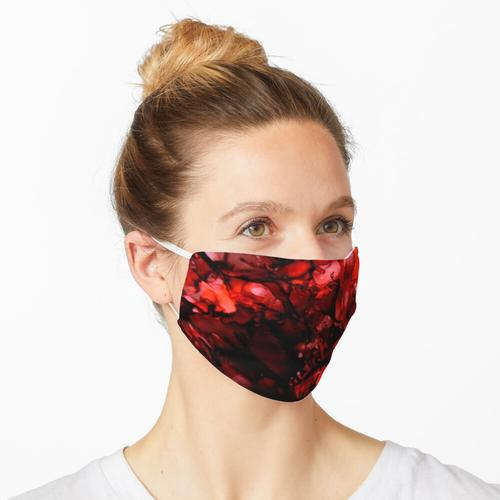 Dunkelrot Maske