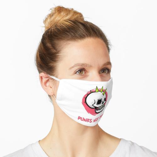 Punker Motiv der 80er Punker Rock Punks not dead Maske