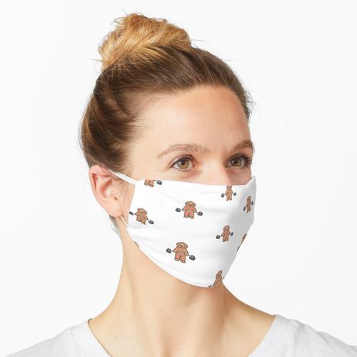 Faultier - Hanteln - Fitness Maske