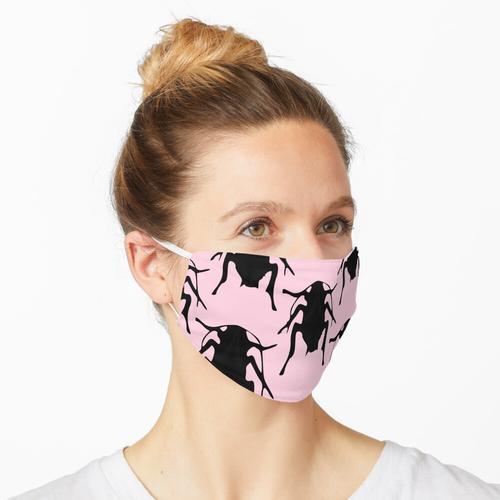 Rosa Kakerlaken Maske