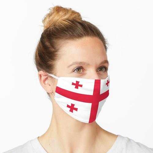 Georgien Flagge Maske