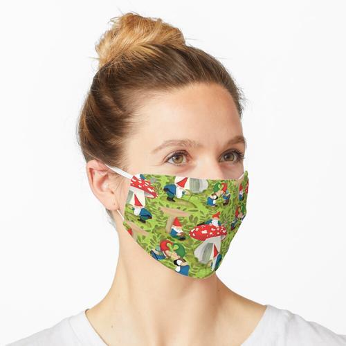 Vintage Gartenzwerge Maske