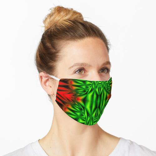 Grüne Stacheln Maske