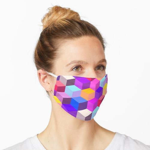 auf Kisten! Ein Design im kubistischen Stil. Maske