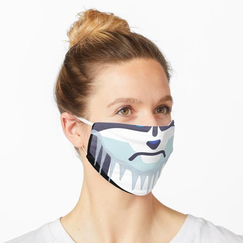 Kalter Hund mit Eiszapfen Maske